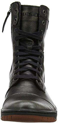 Diesel Tatradium Basket Butch Zippy Sneaker A Collo Alto Uomo Schwarz black rustic Brown