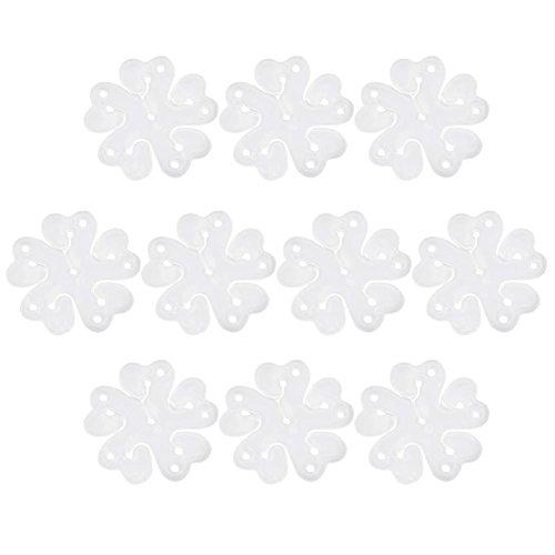 nanshoudeyi Luftballon-Klammern, Blumen-Design, für Hochzeit, Event, Dekoration, Geburtstag, Party, Zubehör, 30 Stück