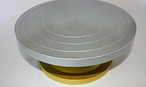 Robuste Plateau Tournant Pour Décoration Gâteau ou Argile travail, résiste jusqu'à 80kg