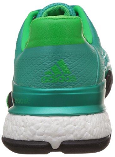 adidas Herren Barricade 2016 Boost Turnschuhe Verde / Blanco (Menimp / Ftwbla / Limsol)