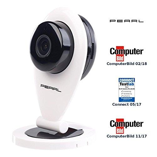 PEARL Funk Kamera: HD-IP-Kamera mit Bewegungserkennung, IR-Nachtsicht & microSD-Aufnahme (WLAN Kamera Bewegungserkennung)