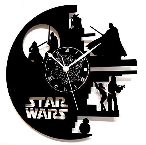 Reloj de vinilo de pared LP 33RPM Instant Karma. Ideal para hacer un regalo Vintage hecho a mano. Star Wars Darth Vader BB8Muerte negra