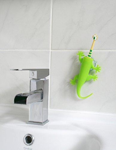 Unbekannt J-Me Larry die Eidechse Zahnbürstenhalter-grün, Silicone, Green, 17x8x3 cm
