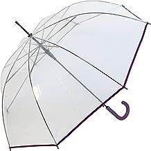 Paraguas transparente transparente automático–Rainy days, color: púrpura