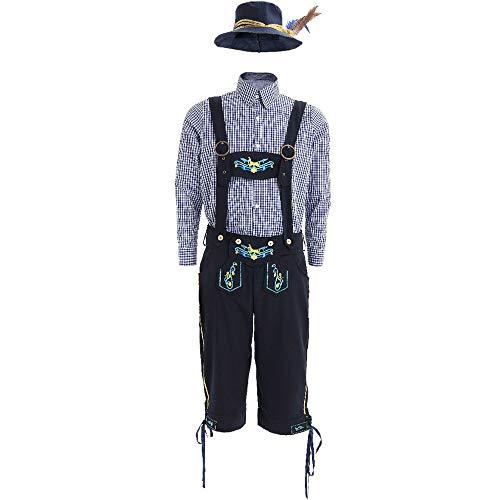 (MAIMOMO Nachtwäsche & Bademäntel Für Damenhalloween Kostüm_Charakter Halloween Kostüm Oktoberfest Ritter Denim Herren Spiel, Farbe, XL)