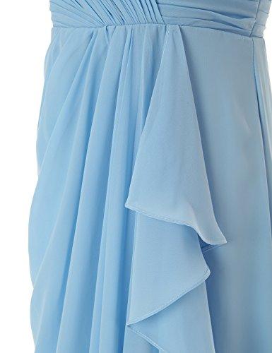 Dressystar Fourreau, Robe de demoiselle d'honneur/de soirée longue,Sans Bretelles en Mousseline Menthe