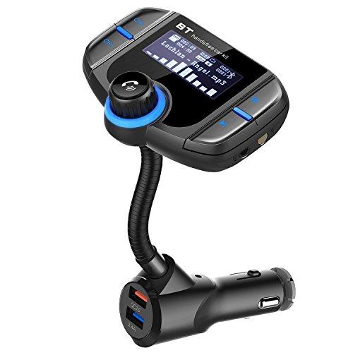 Transmisor FM Bluetooth - Maxesla Coche Manos Libres con Cargador, Dual USB...
