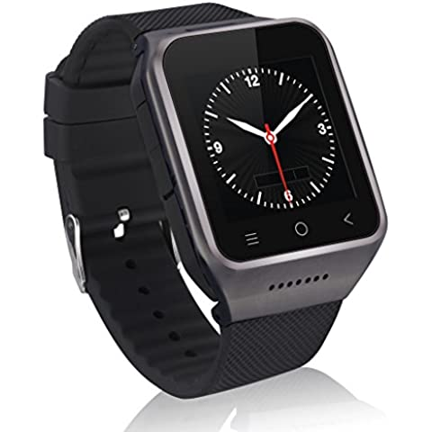Zgpax PW6-B Smartwatch Movil 3g Libre (Android 4.4,Dual Core 512MB RAM, 8GB ROM, Cámara 2.0MP, Bluetooth Email GPS WIFI),