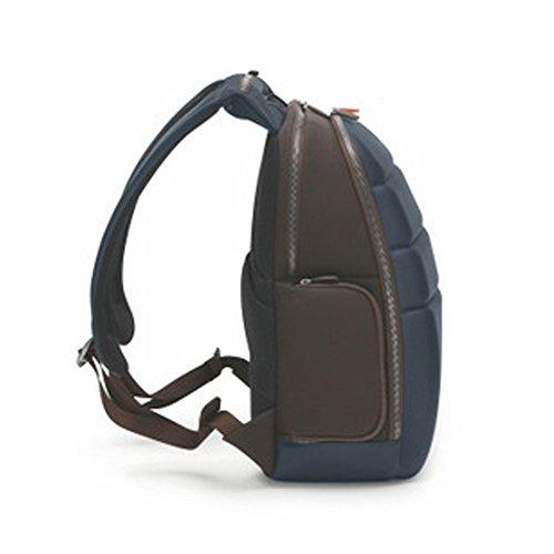 Giorgio Fedon sac à dos en cuir semi-rigide NJP (marron) bleu brun