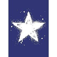 Rayher 4503400 - Plantilla de estarcido (lámina DIN A4, incluye raspador), diseño de estrella