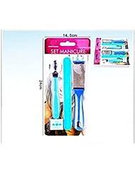 Set manucure pédicure 4pièces.–Mix Colors