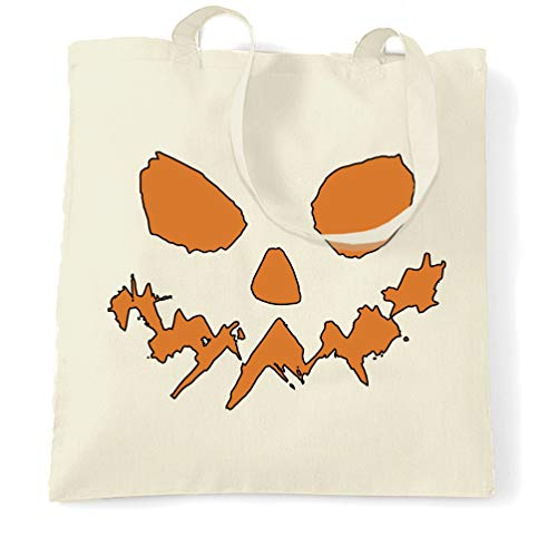 Tim And Ted Halloween Tragetasche Scary Halloween-Kürbis-Gesicht Natural One Size
