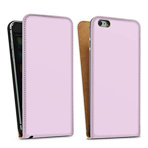 Apple iPhone 4 Housse Étui Silicone Coque Protection Lilas Violet plus clair Lilas Sac Downflip blanc
