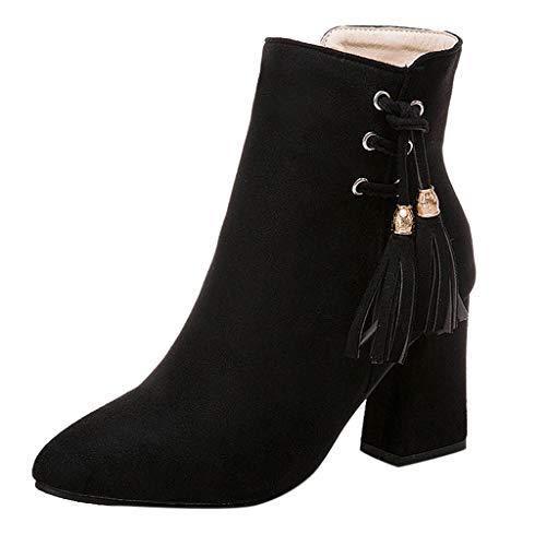 Stivali Eleganti da Donna,POLPqeD Moda Donna Puntato Tacchi Spessi Scarpe Impermeabile Piattaforma Ad Alto Tacco