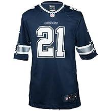 Nike - Camiseta de la NFL Dallas Cowboys Ezekiel Elliott Azul Marino Blanco 292ae0bb388