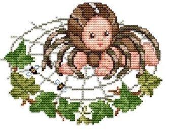 Kreuzstichvorlage Stickvorlage - Spider Baby (Spider Baby Kostüm)
