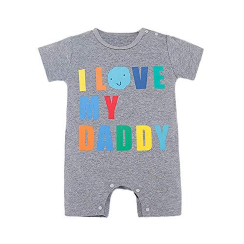 Genau In Meiner Größe Strumpfhosen (Baby Neugeboren Babykleidung Strampler Motive - ICH Liebe Meinen Vater- Baby Body Kurzarm Jungen Mädchen Allence)