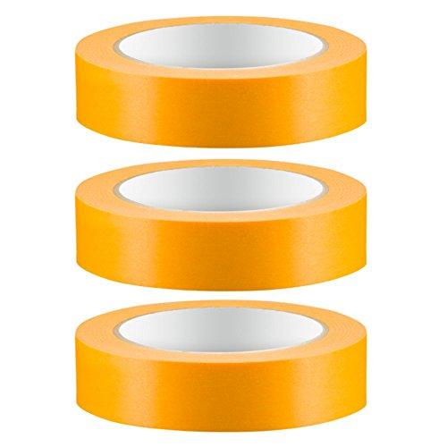 3 x Colorus PROFI Goldband Fine Line 30 mm Soft Tape 50 m Acrylat Abdeckband UV Klebeband Abklebeband Fineline Gold Reispapier