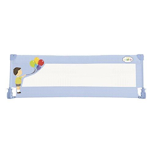 Asalvo 11510 - Barrera de cama 150 cm para bebés, diseño globos, color celeste