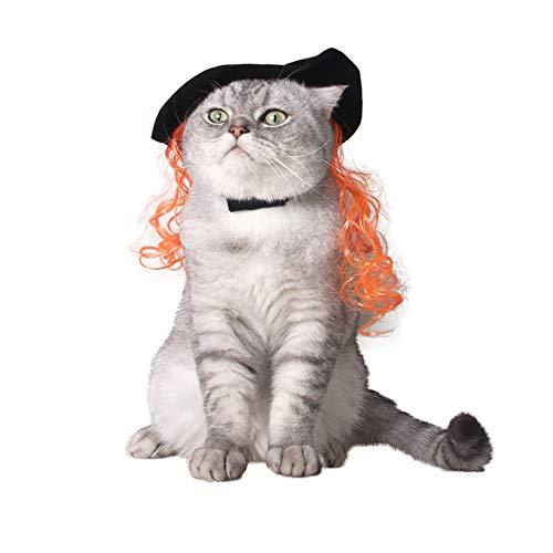 WARMTOWE Haustierkostüm Clown-Kapuze Kragen für Hunde und Katzen, Halloween-Kostüm