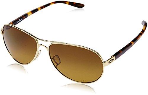 Oakley Feedback(TM) Polished Gold/Brown Gradient Polarized Sonnenbrille