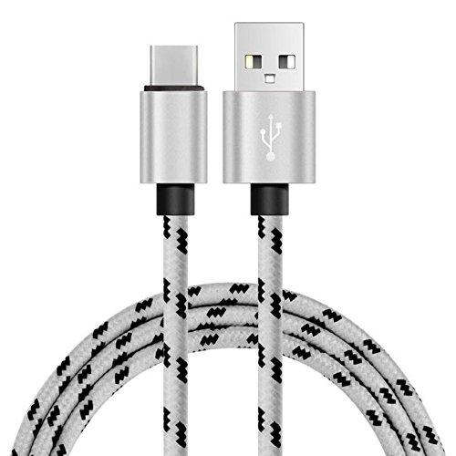 Vimoli GT190R 2M 2A USB-C Câble de Chargeur Rapide Data & Sync USB de Type-C 3.1 Compatible Samsung, Huawei, Onplus, Xiaomi, Kindle, HTC Appareils d'autres Supportent USB-C (Argent)