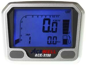 Acewell ACE-3150 Indicateur de vitesse avec compte-tours et jauge de carburant pour quads et motos