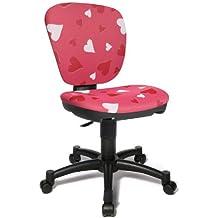 Topstar 616207 silla escritorio para niños MAXX KID tejido rosa motivo corazones