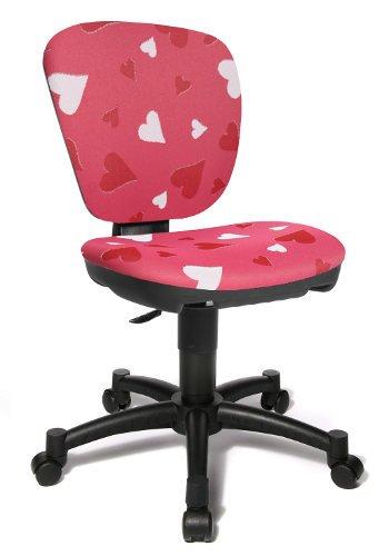 Topstar–Sedia da ufficio girevole per bambini Maxx Kid Cuoricini rosa