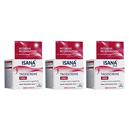 ISANA med Tagescreme Urea 50 ml, 3er Pack(3x50 ml)