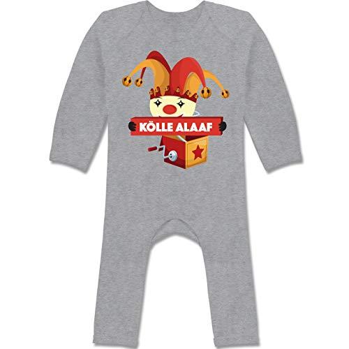 Shirtracer Karneval und Fasching Baby - Kölle Alaaf Jack in The Box - 12-18 Monate - Grau meliert - BZ13 - Baby-Body Langarm für Jungen und ()