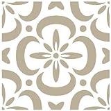 Alles Stencil Mini Deco Schiefer Fonds 091, Maße: 12x 12cm–Stencil Design 10x 10cm