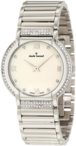 Claude Bernard Women's 20080 3P NAP Classic Ladies Pink Pearlized Dial Crystal Watch