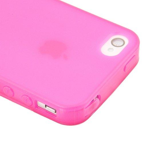 kwmobile TPU Silikon Hülle für Apple iPhone 4 / 4S - Full Body Protector Cover Komplett Schutzhülle Case in Schwarz Transparent .Pink Transparent