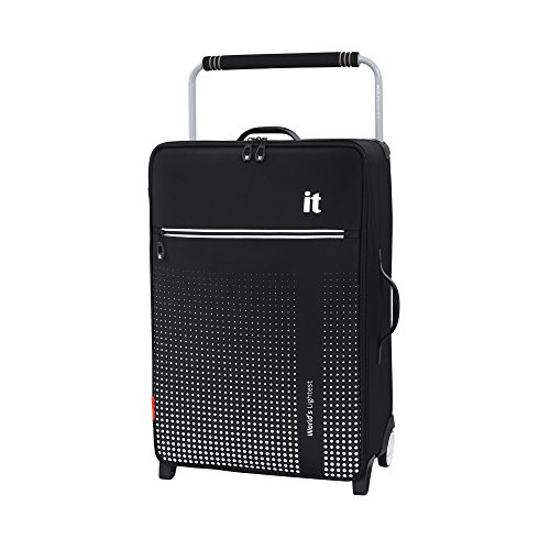 it luggage World's Lightest Vitalize 2 Wheel Super Lightweight Suitcase Medium Koffer, 70 cm, 59 liters, Schwarz (Black)