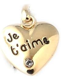 Altesse [F0142] - Pendentif Plaqué Or 'Je t'Aime'
