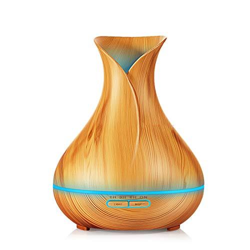 qazcg 400 ml Luftbefeuchter Ätherisches Öl Diffusor Aroma Lampe Aromatherapie Elektrische Aroma Diffusor Nebelhersteller Für UK Helles Holz