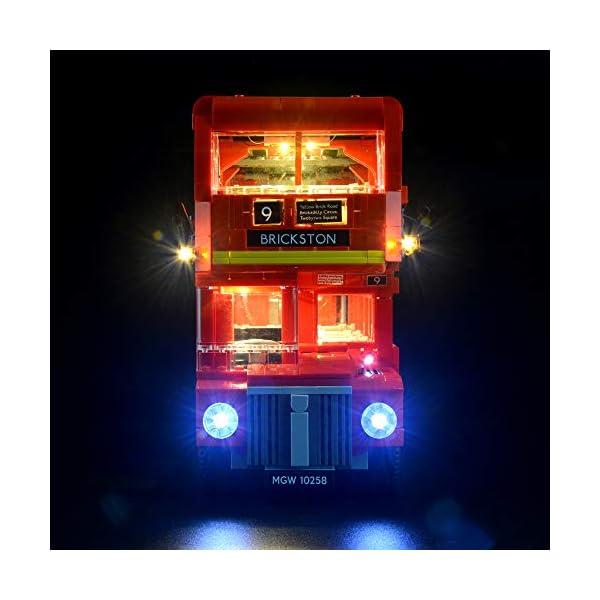 LIGHTAILING Set di Luci per (Creator Expert Autobus Londinese) Modello da Costruire - Kit Luce LED Compatibile con Lego 10258 (Non Incluso nel Modello) 3 spesavip