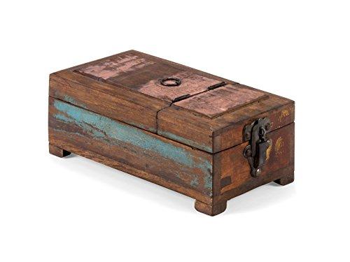 Massivum Avadi Aufbewahrungsbox teak bunt BxHxT 14x10x26 cm