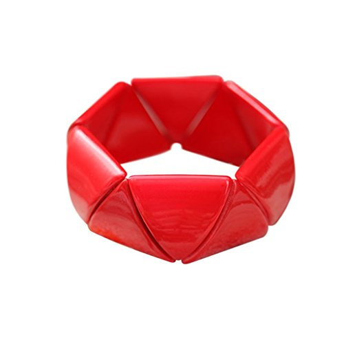 De-Cos Cosplay Costume Accessory Soryu Asuka Langley PU Resin Red Bracelet V1