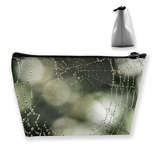 Nature Dew Bokeh Rain Animal Spiderweb Web Mehrzweckstift Bleistift Taschen Zubehör Tasche Make-up Tragetasche