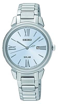 Seiko Reloj Analogico para Mujer de Energía Solar con Correa en Acero Inoxidable SUT323P1