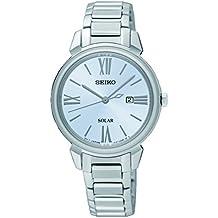 9a64858c30ae Seiko Reloj Analogico para Mujer de Energía Solar con Correa en Acero  Inoxidable SUT323P1