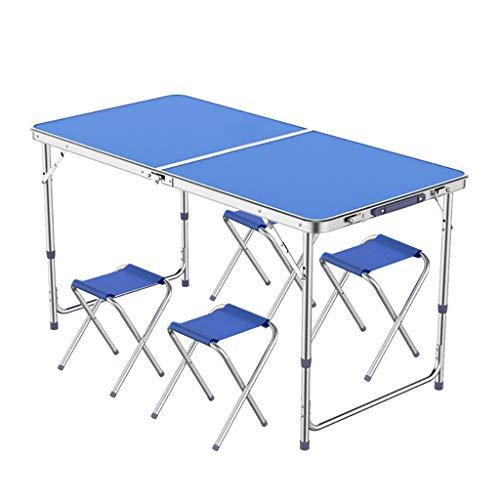 Table Pliante Portable et réglage de la Chaise à 3 Vitesses 70/60 / 55cm pour Barbecue en intérieur et extérieur -LJ Jing Shop (Couleur : Green)