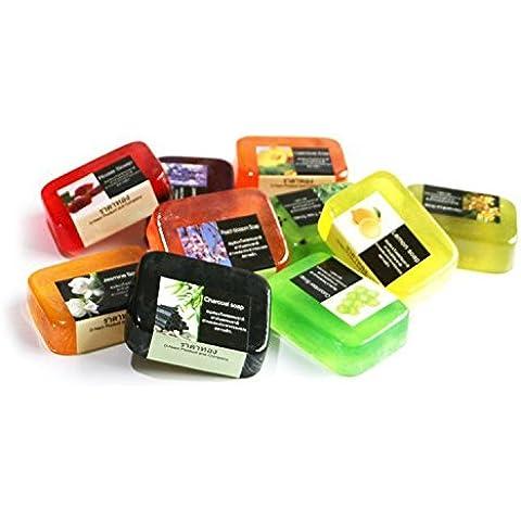 F&HY&L JABÓN artesanal entrega al azar de jabón 3 * 100g de aceite de piel 11 jabones hidratantes
