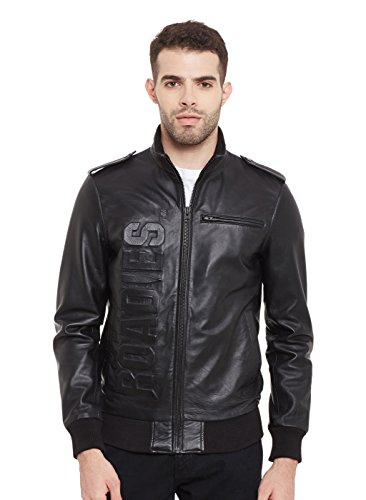 ROADIES by JUSTANNED Black Men's Leather Jacket
