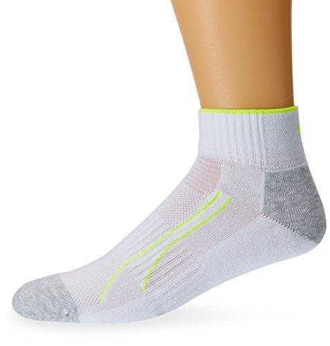 PUMA Herren Socken PERFORMANCE TRAIN QUARTER 2P, white, 43-46, 261008001 (Sock Logo Quarter)