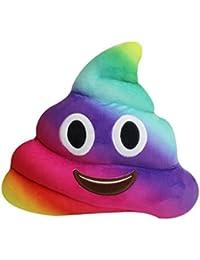 Covermason Divertido Emoji Multicolor Poo Forma Cojines Emoticon Juguete Muñeca Almohada (20cm, A)