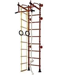 Equipamiento Deportivo De Acero Inoxidable Barras De Pared Ajuste Superior M2 - rojo, para espacios de 240-290 cm