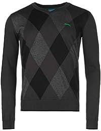Slazenger Herren Argyle Golf Pullover Langarm V Ausschnitt Strickpullover
